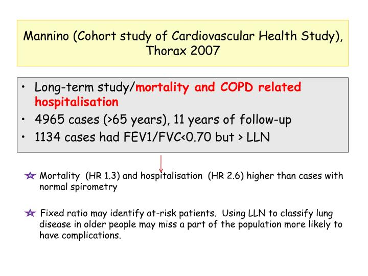 Mannino (Cohort study of Cardiovascular Health Study), Thorax 2007