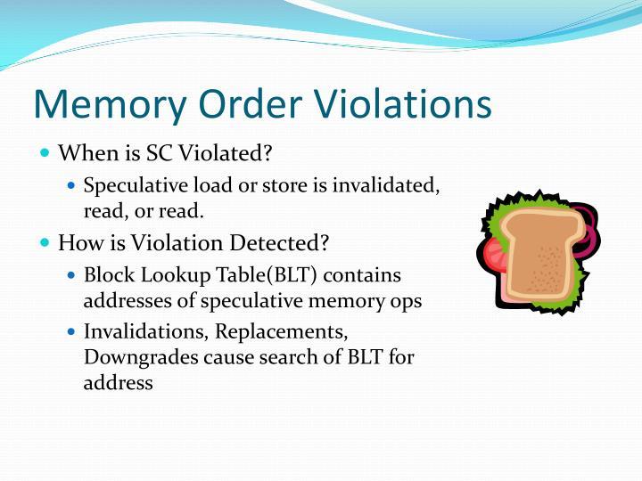 Memory Order Violations