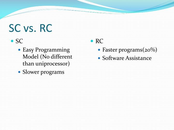Sc vs rc