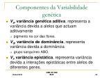 componentes da variabilidade gen tica
