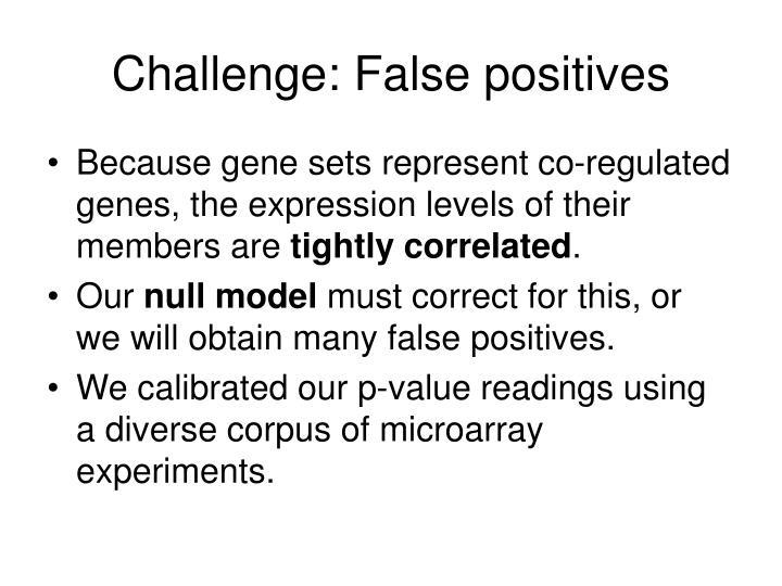 Challenge: False positives