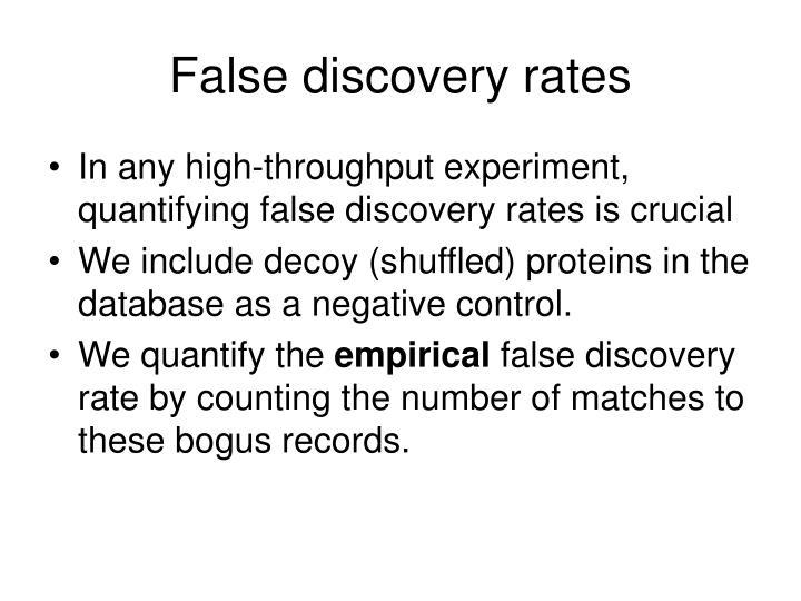 False discovery rates