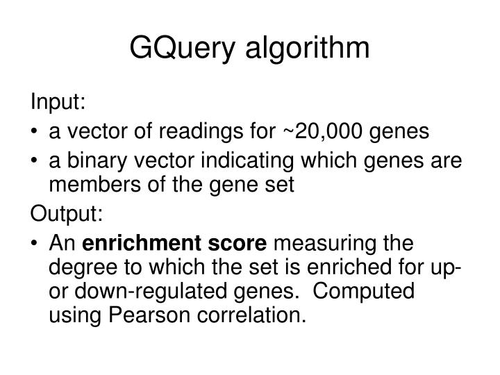 GQuery algorithm