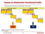 issues to distinctive functional units