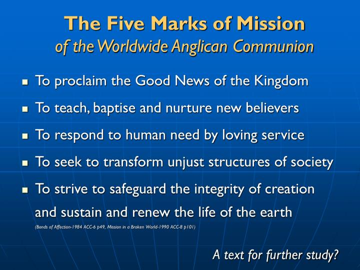 The Five Marks of Mission
