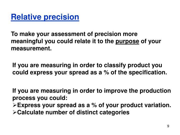 Relative precision
