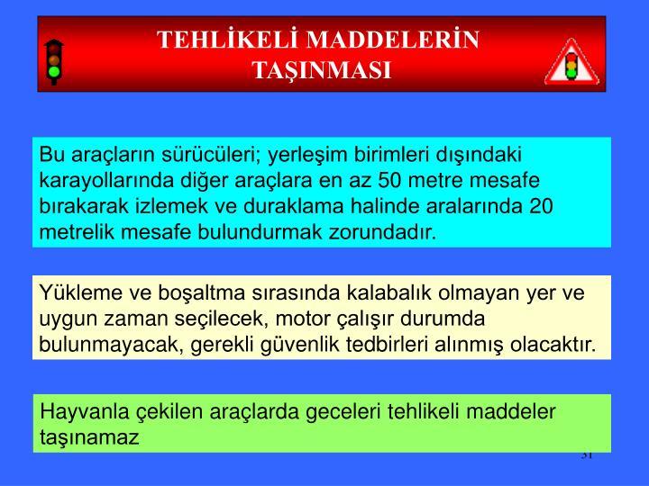 TEHLİKELİ MADDELERİN