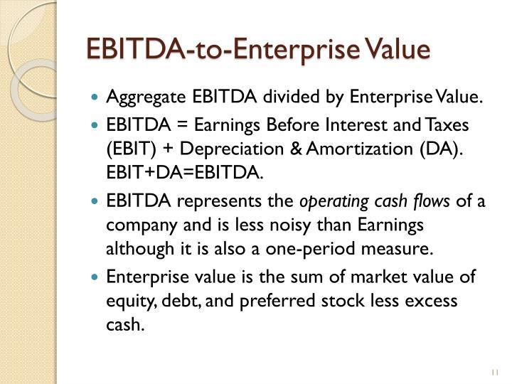 EBITDA-to-Enterprise Value