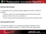 independent assessment objective