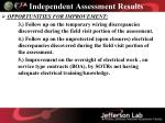 independent assessment results4