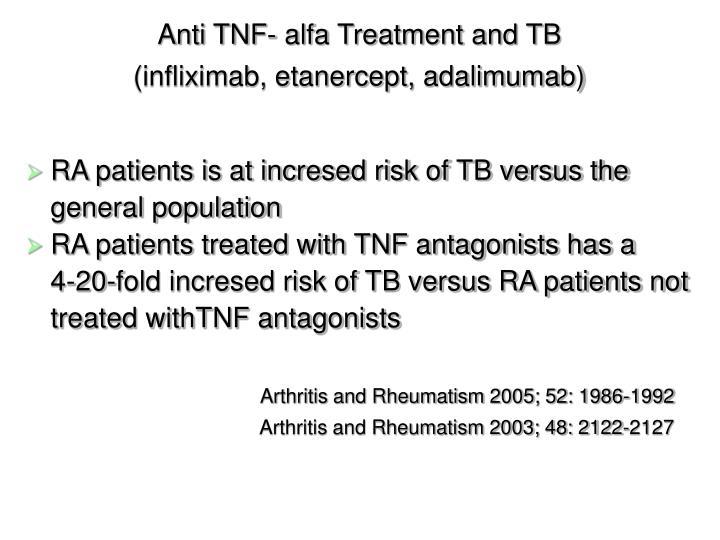 Anti TNF- alfa Treatment and TB