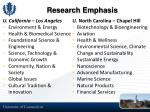 research emphasis