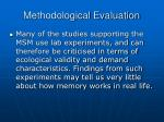 methodological evaluation