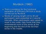 murdock 1962