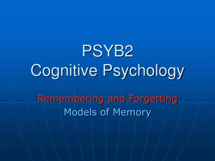 psyb2 cognitive psychology n.
