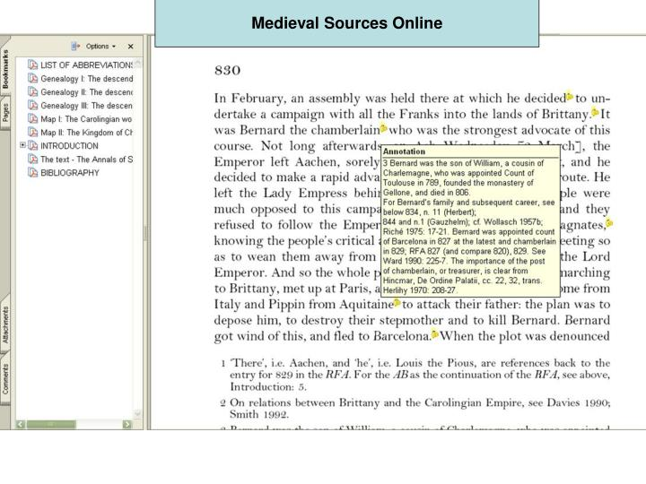 Medieval Sources Online