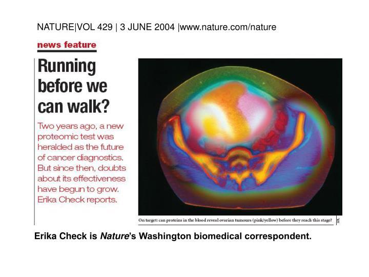 NATURE|VOL 429 | 3 JUNE 2004 |www.nature.com/nature