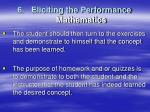 6 eliciting the performance mathematics1