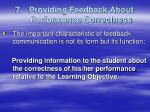 7 providing feedback about performance correctness