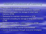 internal conditions of learning1