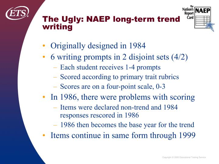 The Ugly: NAEP long-term trend writing