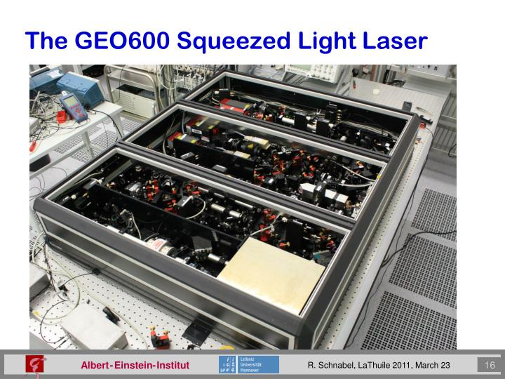 The GEO600 Squeezed Light Laser