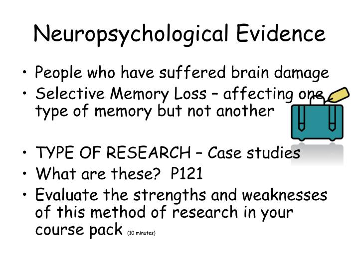 Neuropsychological Evidence