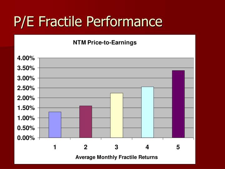 P e fractile performance
