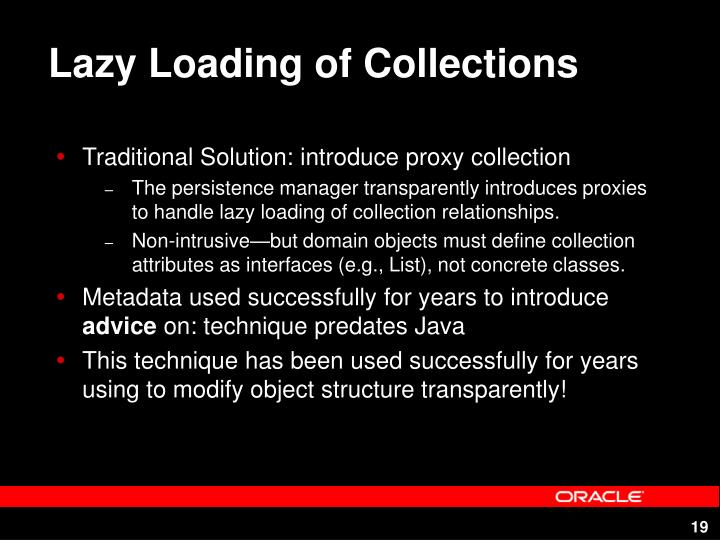 Lazy Loading of Collections