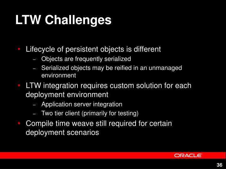LTW Challenges