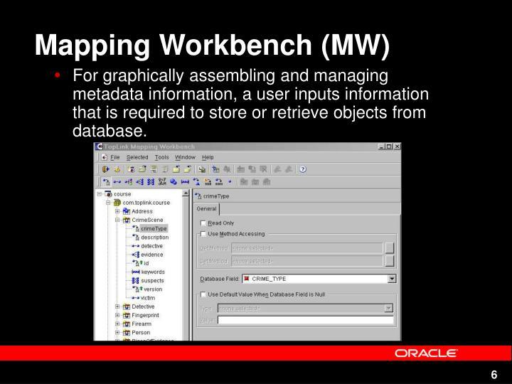Mapping Workbench (MW)