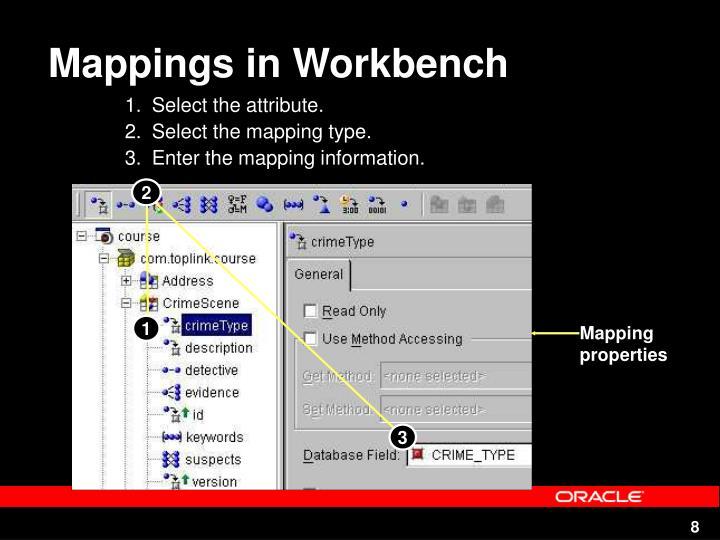 Mappings in Workbench