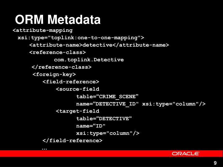 ORM Metadata