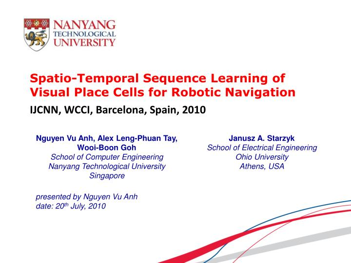 Spatio temporal sequence learning of visual place cells for robotic navigation