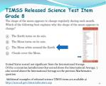 timss released science test item grade 8