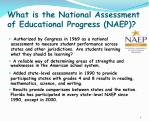 what is the national assessment of educational progress naep