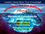 leaders need more than knowledge