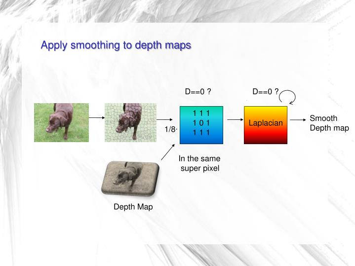 Apply smoothing to depth maps