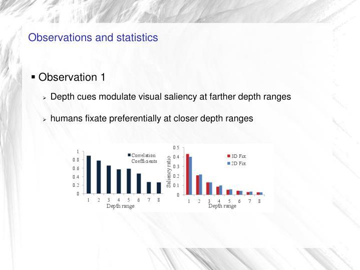 Observations and statistics