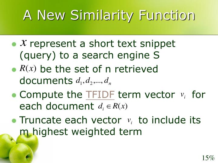 A New Similarity Function
