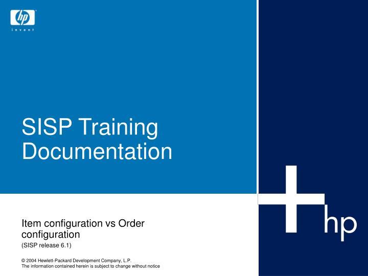 sisp training documentation n.