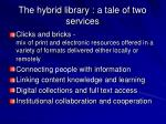 the hybrid library a tale of two services