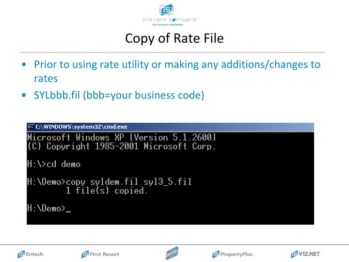 Copy of Rate File