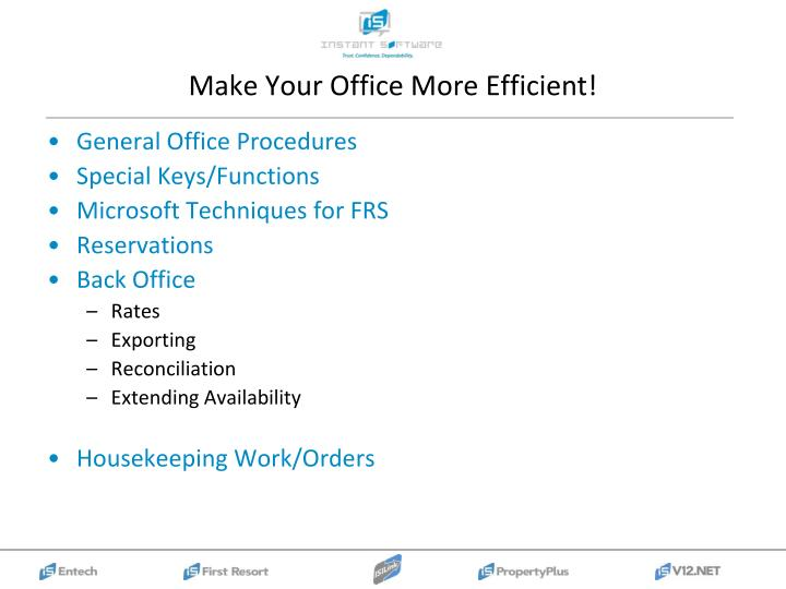 Make Your Office More Efficient!