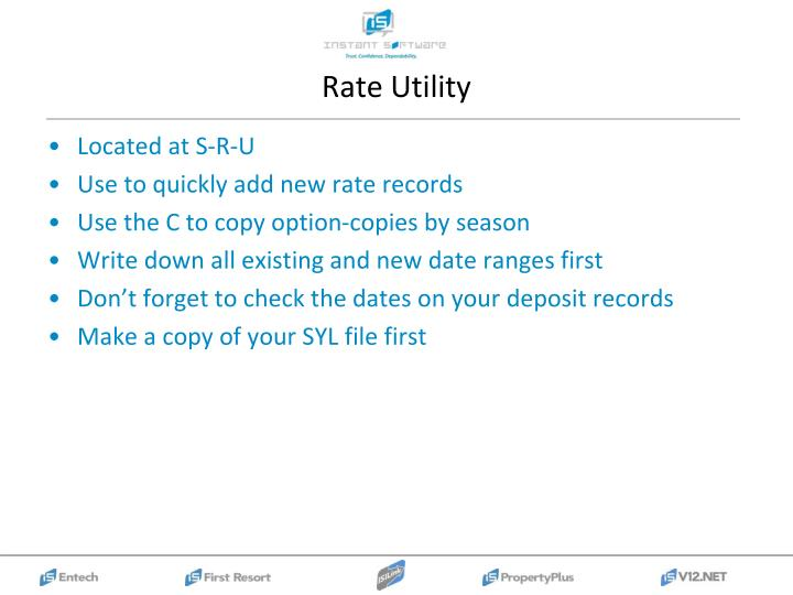 Rate Utility