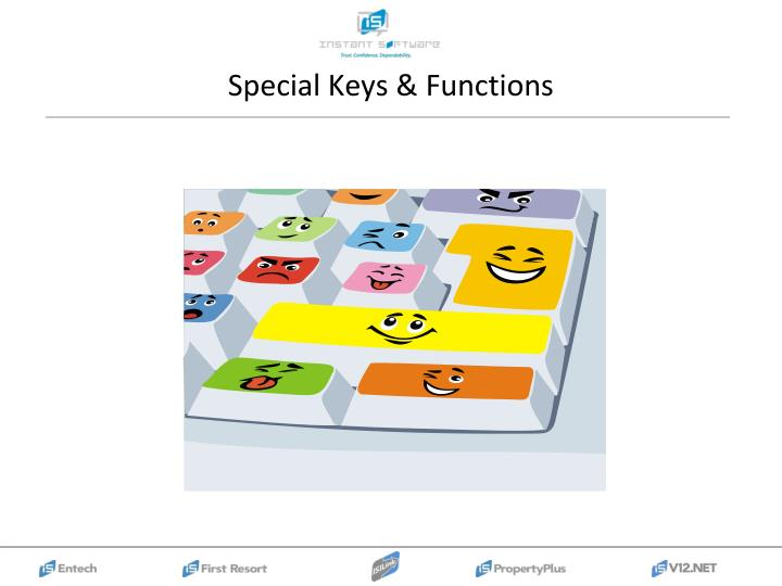Special Keys & Functions