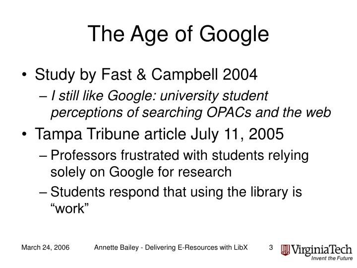 The age of google