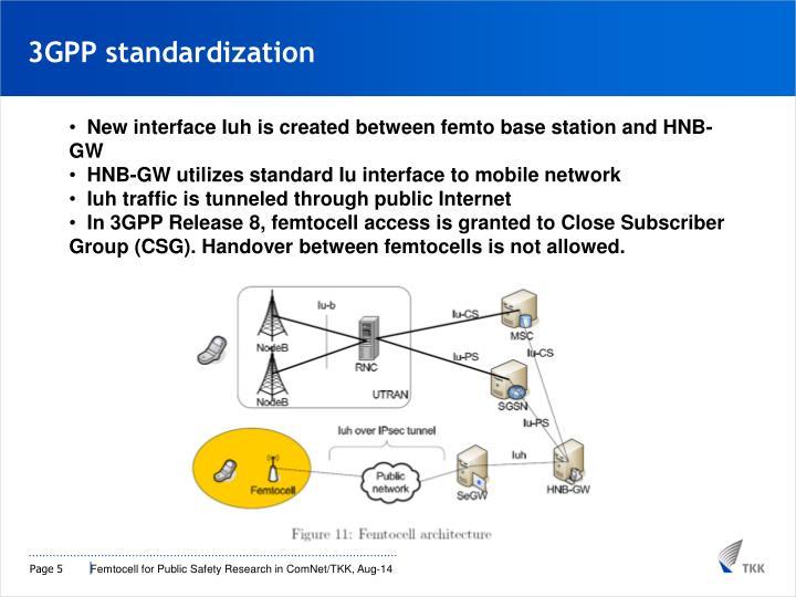 3GPP standardization
