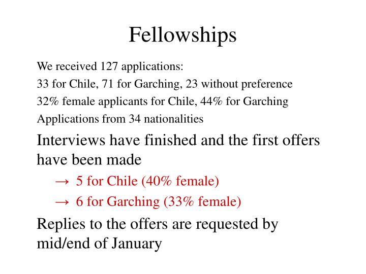 fellowships n.