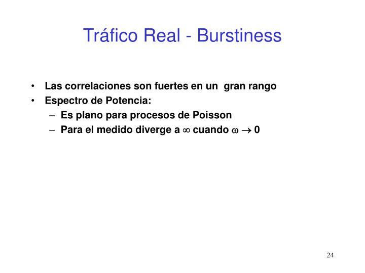 Tráfico Real - Burstiness